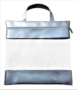 41cm by 41cm See Your Stuff Clear Storage Bags, Silver