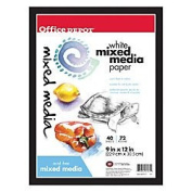 Office Depot Multimedia Artist Sketch Book, 23cm . x 30cm ., White, 40 Sheets, 194000-11980