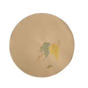 """Easyou Round Handmade Xuan Paper with Woodenblock Printing Sumi Paper for Calligraphy and Painting Half ripe 33cmX33cm(12.99""""X12.99"""") Patterned with Leaf"""