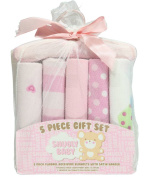 """Snugly Baby """"Everything Nice"""" 5-Pack Receiving Blankets Gift Set - pink, one"""