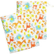 EASYMOM 2 pcs Baby Wet and Dry Cloth Nappy Bags Size 34cm .X16.36cm .
