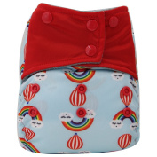 Asenappy Charcoal Bamboo Washable Reusable All-In-One Rainbow Cloth Pocket Nappy Sewn Insert
