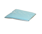 Garden Patio / Deck Chair Seat Cushion Pad - Turquoise Stripe
