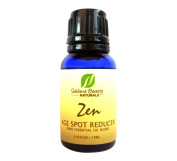 Zen AGE SPOT REDUCER Essential Oil Blend with May Chang, Lemon, Vitamin E and More. Natural Skincare Solution.