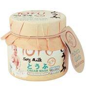 Scentio Tofu Soymilk Baby Cream Night Sleeping Mask : 160g