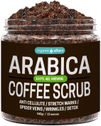 Anti Cellulite Coffee Scrub For Stretch Marks, Varicose Veins, Acne Treatment and Eczema - 100% Natural Arabica Coffee Scrub With Coffee, Coconut and Shea Butter