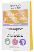 Advanced Clinicals Vitamin C Brightening Sheet Mask for dark spots. Brightening Sheet Mask Made in Korea. 5 per box.