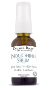 Nourishing Facial Serum for Sensitive and Dry Skin by Dynamic Roots - Organic Handcrafted Herbal Formula with Wild Rose and Ylang Ylang - Great as Daily Moisturiser and Oil Cleanser