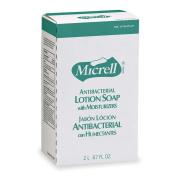 GOJO Antibacterial Lotion Soap, Amber, NXT 2000 ml Refill