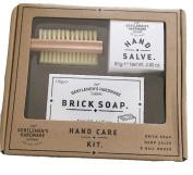 Gentlemen's Hardware Hand Care Kit for Men, Sandalwood Soap, Salve, Brush