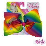 JoJo Siwa Signature Collection Hair Bow - Rainbow With Sticker Patch Set Included