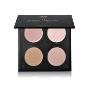 Tanali Concealer Bronzer Contour Highlighter Powder Palette -4 Colour Matte Glitter Foundation Face Makeup Compact Set