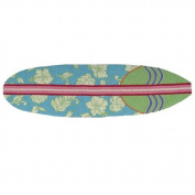Homefires Accents Surfboard Hawaiian Turquoise 50cm by 180cm Indoor Rug,