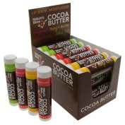 24 Pack Nature's Bees Cocoa Butter Lip Balm Tubes Moisturiser All Natural Chap Treatment