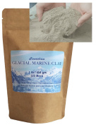 Glacial Marine Clay Powder (0.5kg) Healing Clay for Facial Mask, Body Wrap, Mineral Detox Bath, Skin Conditions, Acne, Clogged Pores - Purest, Most Highly Enriched Clay
