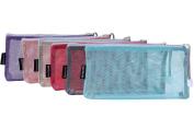 Sea Team 6pcs Multicoloured Portable Travel Toiletry Pouch Nylon Mesh Cosmetic Makeup Organiser Bag with Zipper