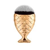 Tenworld 1PC Fish Scale Makeup Brushes Fishtail Powder Blush Brush Makeup Cosmetic Brushes