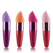 Fullkang 1pc Women Cosmetic Liquid Cream Foundation Concealer Sponge Lollipop Brush Random Colour