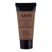 1 NYX SMF19 COCOA CACAO - STAY MATTE BUT NOT FLAT LIQUID FOUNDATION + FREE EARRING