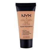 1 NYX SMF18 MEDIUM MOYEN - STAY MATTE BUT NOT FLAT LIQUID FOUNDATION + FREE EARRING