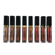 Sunsent 8 Colours Metal Liquid Lipstick Shimmer Lip Glosses