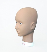 Charlene Makeup Flatback Mannequin Head for Training and Practising