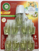 Air Wick Life Scents, 9 Larger 25ml Scented Oils & 1 warmer - Sunshine Cotton