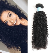 BLY Hair Brazilian Kinky Curly Virgin Human Hair 3 Bundles 6A Grade Unprocessed Human Hair Extension Natural Colour About 95-105g/pcs , . 8 10 30cm