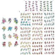 KADS Flowers Nail Art Sticker Wrap Decal Water Transfer - 1 Pack 11 design