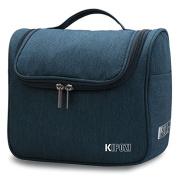 KIPOZI Hanging Travel Toiletry Bag for Men & Women, Waterproof Toiletry Organiser For Travels, Travel Shower Bag with Mesh Pockets & Sturdy Hook