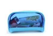 Drasawee Women's Waterproof Transparent Travel Makeup Bag Toiletry Cosmetics Bag Blue