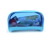 Drasawee Women's Waterproof Transparent Travel Makeup Bag Toiletry Cosmetics Bag Blue