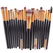 KOLIGHT Pack of 20pcs Cosmetic Eye Shadow Sponge Eyeliner Eyebrow Lip Nose Foundation Powder Makeup Brushes Sets