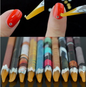 Sindy Nail Art Picker Resin Pencil Rhinestones Dotting Pick up Tool Wax Pen 5Pcs