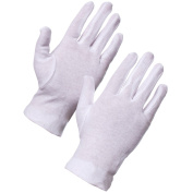 1 Pair BJD Doll Maintenance Anti-sweat and Stain Soft White Cotton Gloves for Human