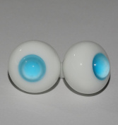 1 Pair Glass Light Blue No Pupils Ball 8mm Round Ball Eyes for BJD Dollfie SD Doll