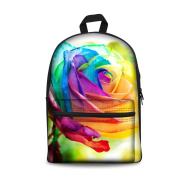 Coloranimal Stylish Colourful Floral Pattern Backpacks for Girls Women Travel Backpack
