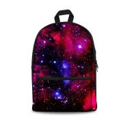 Coloranimal Trendy Galaxy Star Print Women School Travel Laptop Backpack for Girls