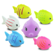 Berry President(TM) Novelty Rubber Fish Animal Floating Bath Toy for Kid,Baby,Children,6 PCS