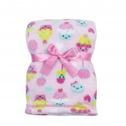 Cutie Pie Girls' Pink Sweets Baby Blanket 80cm x 90cm