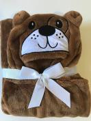 Soft Baby Animal Hooded Blanket - Brown Bear 80cm x 100cm …