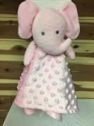 Nuby Pink Elephant Minky Dots Buddy Security Blanket