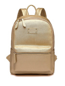 LCY Fashion PU Leather Multi-function Backpack Baby Nappy Bag With Changing Pad Gold