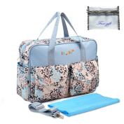 Kamay's Multifunctional Waterproof Mummy Shoulder Bag Nappy Bag Chic Nappy Changing Bag