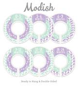 Modish Labels Baby Nursery Closet Dividers, Closet Organisers, Nursery Decor, Baby Girl, Woodland, Arrow, Tribal, Purple, Lavender, Mint