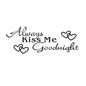"LandFox ""Always Kiss Me Goodnight"" Home Decor Decal Wall Sticker"