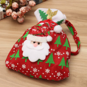Bazaar Christmas Applique Candy Gift Re-Usable Wrapping Xmas Tree Hanging Bag Decor