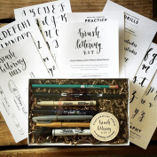 Brush Lettering Kit - DIY Brush Lettering Starter Set by Wildflower Art Studio