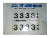 "C-Thru Graphics LA-239 Lil' alphabets Dry Transfer Lettering ""3"" Helvetica Medium 96 Points"