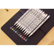 Metallic Marker Pens Set of 10 Painting Pen for Creative DIY photo album, Birthday/Greeting/Gift Card Making, Graffiti, Brilliant Colours for Adults and Kids